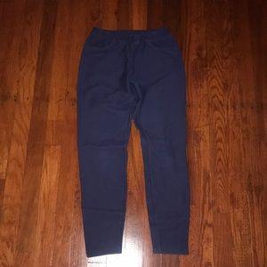 "Blue ""jean"" leggings"